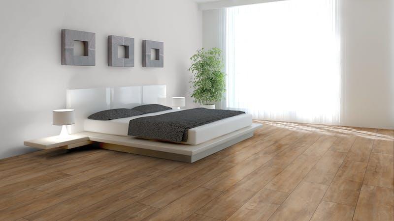Laminat BoDomo Premium Eiche Orient Natur Produktbild Schlafzimmer - Urban zoom