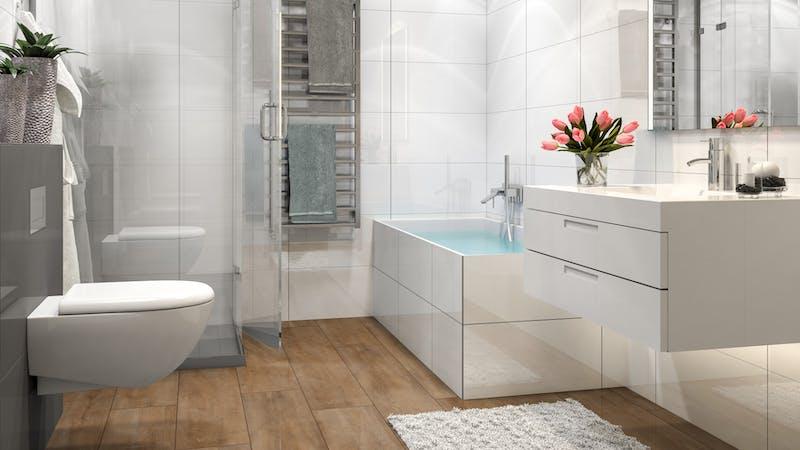 Laminat BoDomo Premium Eiche Orient Natur Produktbild Badezimmer - Klassisch zoom