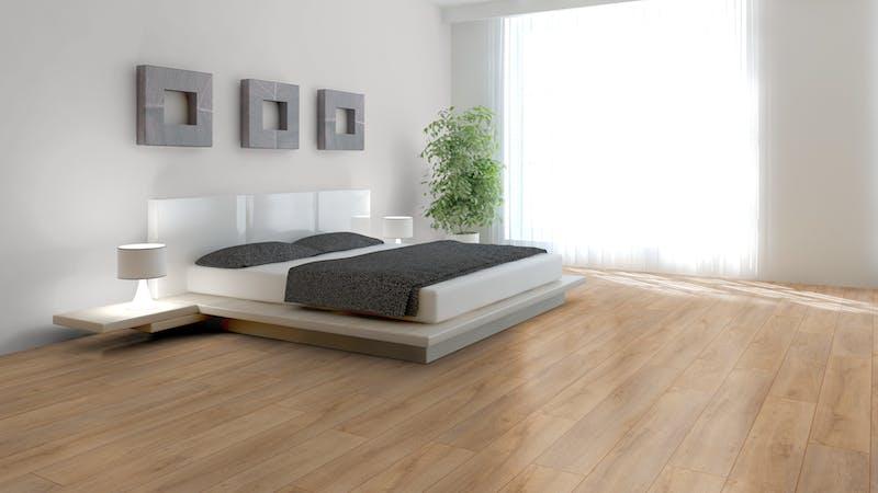 Laminat BoDomo Exquisit Eiche Klassik Natur Produktbild Schlafzimmer - Urban zoom