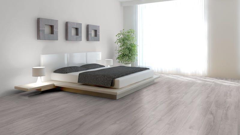 Laminat BoDomo Exquisit Eiche Klassik Grau Produktbild Schlafzimmer - Urban zoom