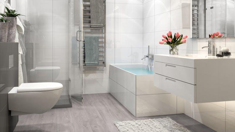Laminat BoDomo Exquisit Eiche Klassik Grau Produktbild Badezimmer - Klassisch zoom
