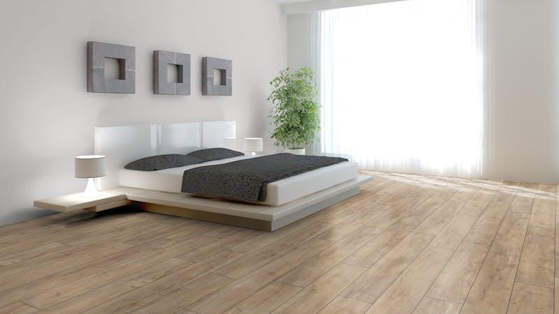 Laminat BoDomo Exquisit Eiche Orient Beige Produktbild Schlafzimmer - Urban zoom