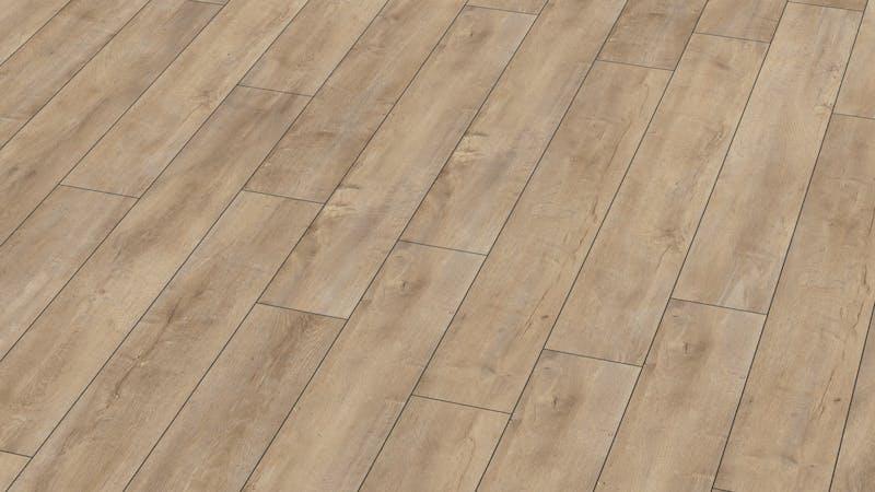 Laminat BoDomo Exquisit Eiche Orient Beige Produktbild Musterfläche von oben grade zoom