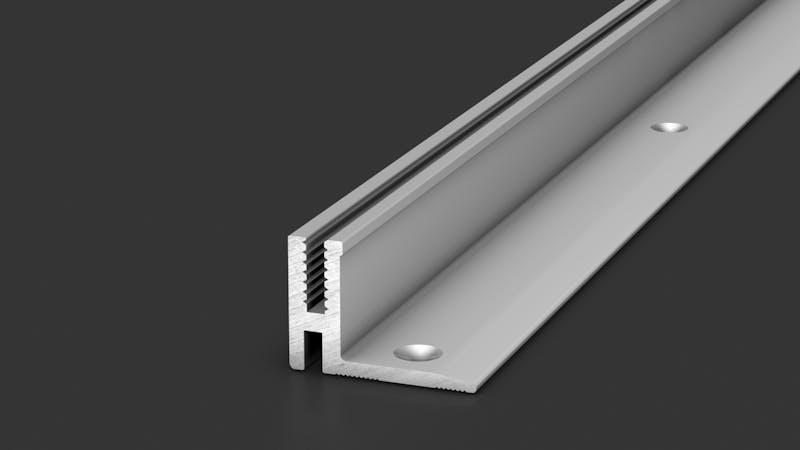 Basisprofil Alu für Übergangs- und Abschlussprofil - Alu blank - 14,4 mm x 270 cm Produktbild Schlafzimmer - Urban zoom