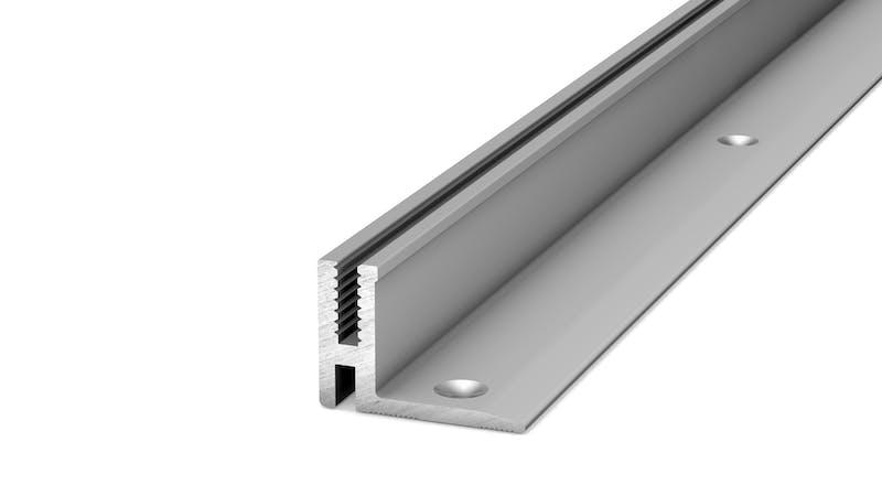 Basisprofil Alu für Übergangs- und Abschlussprofil - Alu blank - 14,4 mm x 100 cm Produktbild