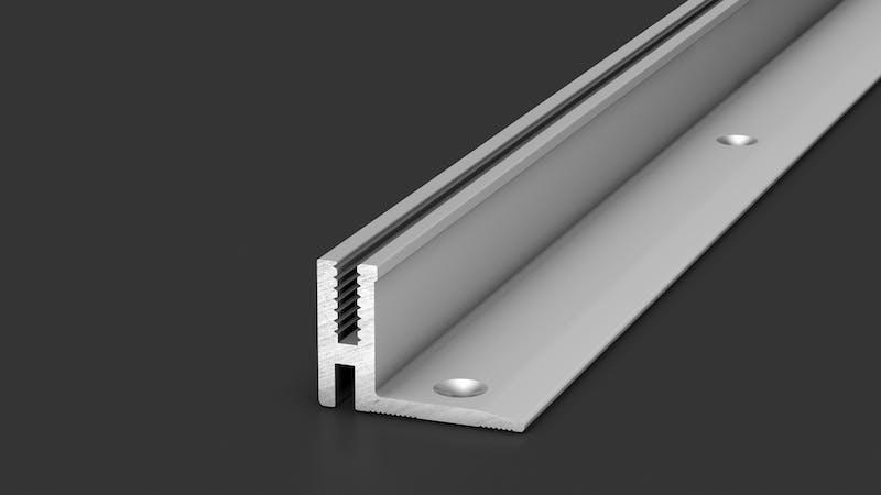Basisprofil Alu für Übergangs- und Abschlussprofil - Alu blank - 14,4 mm x 100 cm Produktbild Schlafzimmer - Urban zoom