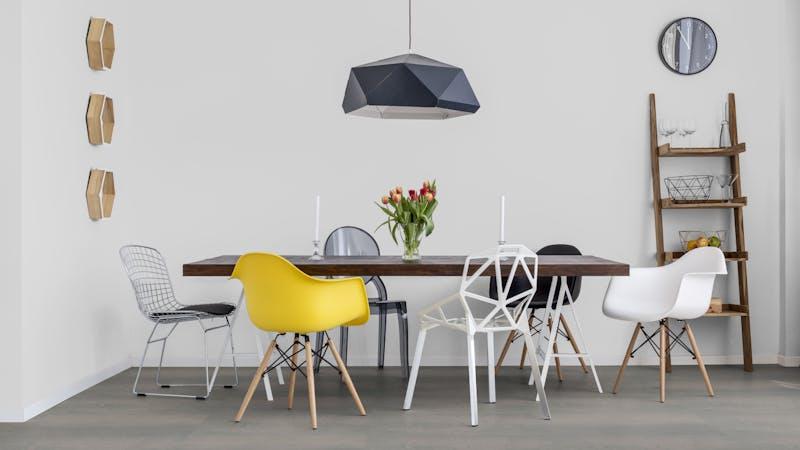 Klick-Vinyl Windmöller wineo 800 Rough Concrete Produktbild Küche & Esszimmer - Modern mit Treppe zoom
