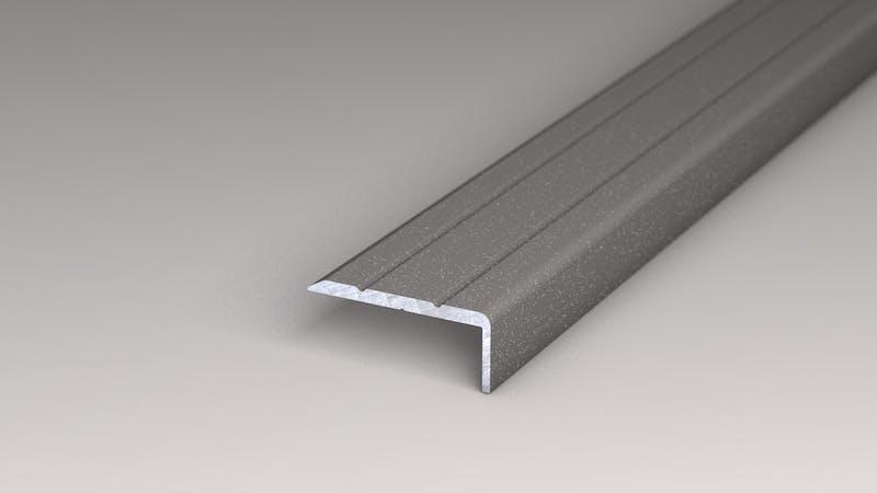 Winkelprofil selbstklebend - Grau Metallic - 24,5 mm x 10 mm x 100 cm Produktbild