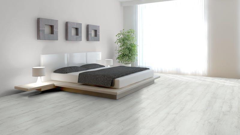 Klick-Vinyl BoDomo Exquisit Weißeiche Produktbild Schlafzimmer - Urban zoom