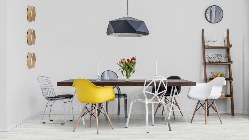 Klick-Vinyl BoDomo Exquisit Weißeiche Produktbild Küche & Esszimmer - Modern mit Treppe zoom