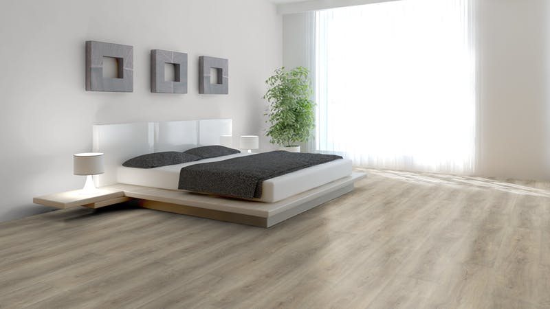 Klick-Vinyl BoDomo Premium Aumera Oak Native Produktbild Schlafzimmer - Urban zoom