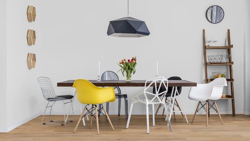 Rigid-Vinyl ohne integrierte Dämmung Windmöller wineo 600 #WarmPlace Produktbild Küche & Esszimmer - Modern mit Treppe zoom