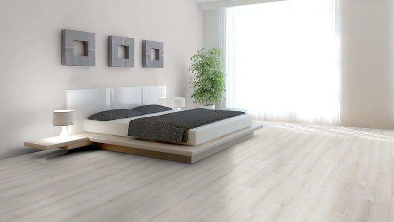 Laminat BoDomo Exquisit Roble Crema Produktbild Schlafzimmer - Urban zoom