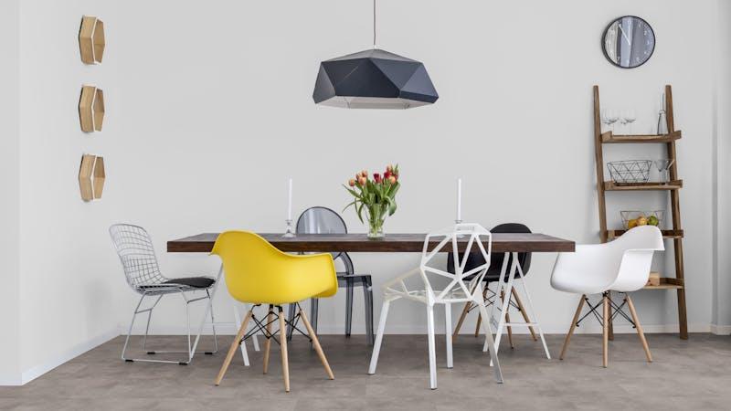 Rigid-Vinyl ohne integrierte Dämmung Windmöller wineo 600 #NewtownFactory Produktbild Küche & Esszimmer - Modern mit Treppe zoom