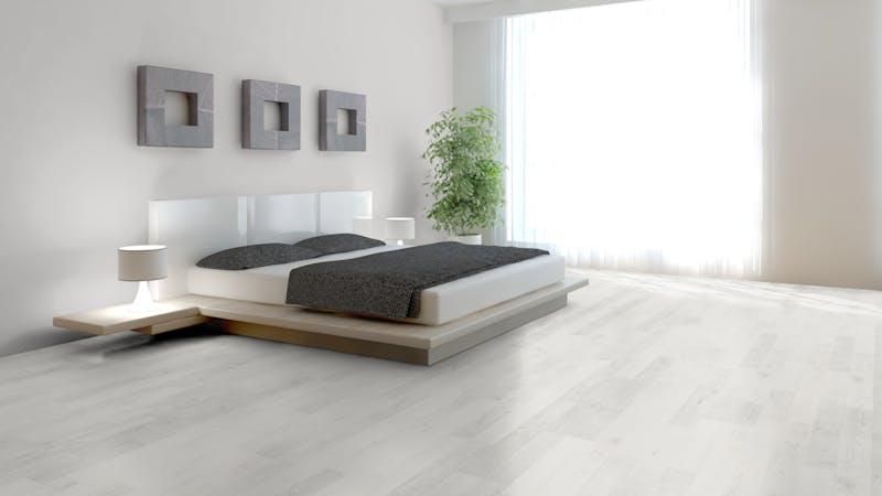 Laminat BoDomo Klassik Ash White Produktbild Schlafzimmer - Urban zoom