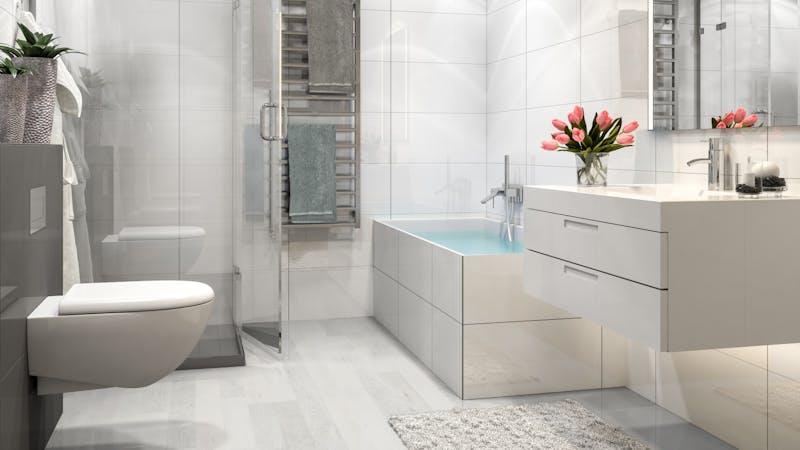 Laminat BoDomo Klassik Ash White Produktbild Badezimmer - Klassisch zoom