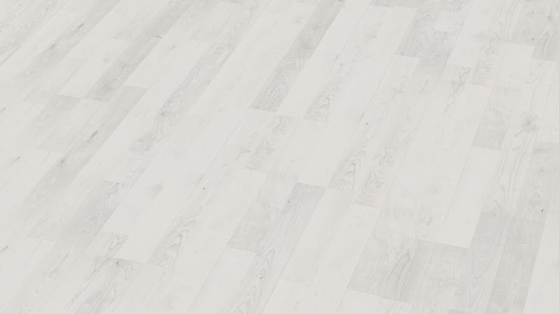Laminat BoDomo Klassik Ash White Produktbild Musterfläche von oben grade zoom
