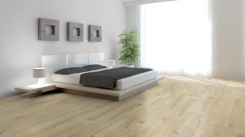 Laminat BoDomo Premium Basket Oak Nature Produktbild Schlafzimmer - Urban zoom