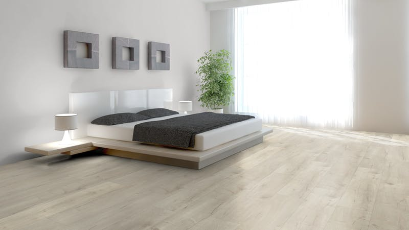 Laminat BoDomo Premium Basket Oak Light Produktbild Schlafzimmer - Urban zoom