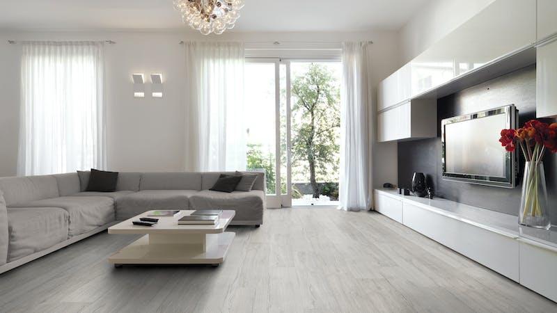 Laminat BoDomo Exquisit Scarlet Oak Silver Produktbild Wohnzimmer - Urban mit Wohnwand zoom