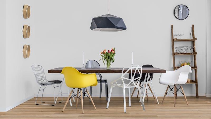 Rigid-Vinyl ohne integrierte Dämmung Windmöller wineo 600 #AmsterdamLoft Produktbild Küche & Esszimmer - Modern mit Treppe zoom