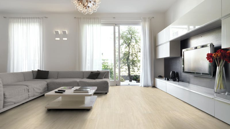Multilayer BoDomo Premium Silent Oak Produktbild Wohnzimmer - Urban mit Wohnwand zoom