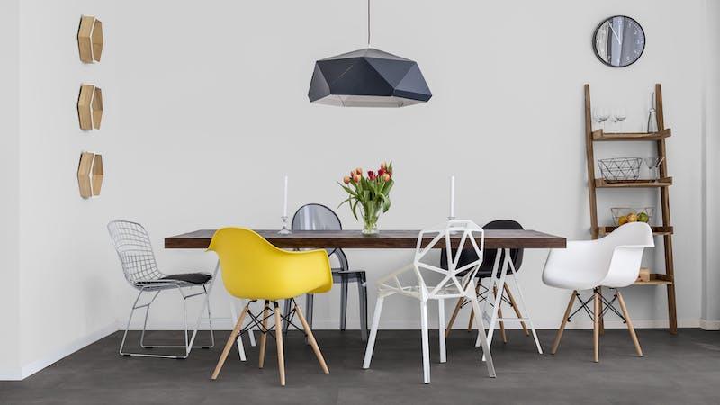 Klick-Vinyl BoDomo Klassik New Grain Scuro Produktbild Küche & Esszimmer - Modern mit Treppe zoom