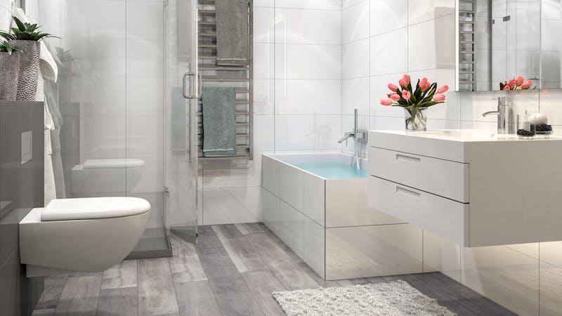 Laminat BoDomo Premium Fera Oak Grey Produktbild Badezimmer - Klassisch zoom