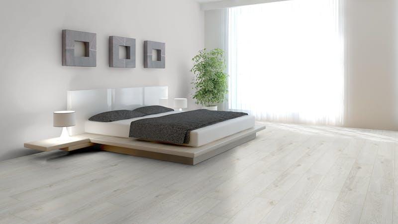 Laminat BoDomo Exquisit Darßwald Oak Produktbild Schlafzimmer - Urban zoom
