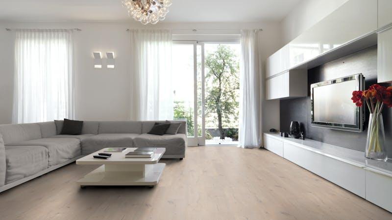 Rigid-Vinyl mit integrierter Dämmung CoreTec Naturals Desert Produktbild Wohnzimmer - Urban mit Wohnwand zoom