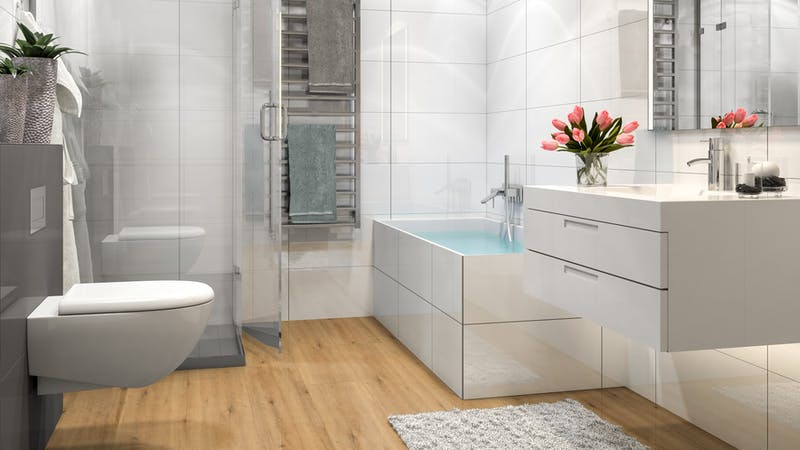 Multilayer BoDomo Premium Modesto Oak Produktbild Badezimmer - Klassisch zoom