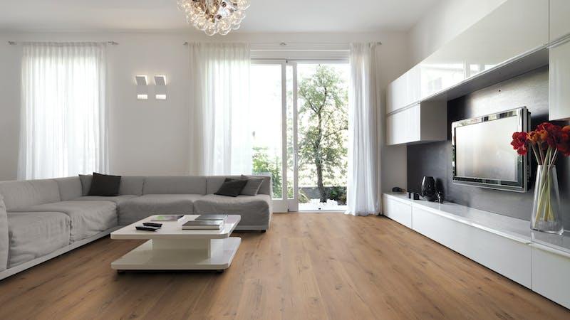Multilayer BoDomo Premium Rialto Oak Produktbild Wohnzimmer - Urban mit Wohnwand zoom