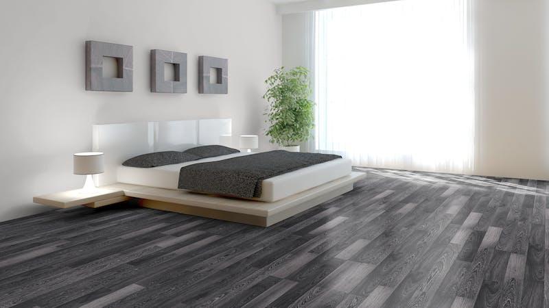 Laminat BoDomo Exquisit Schwarzweiß Produktbild Schlafzimmer - Urban zoom