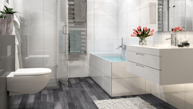 Laminat BoDomo Exquisit Schwarzweiß Produktbild Badezimmer - Klassisch zoom