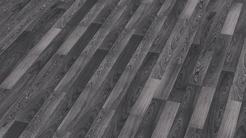 Laminat BoDomo Exquisit Schwarzweiß Produktbild Musterfläche von oben grade zoom