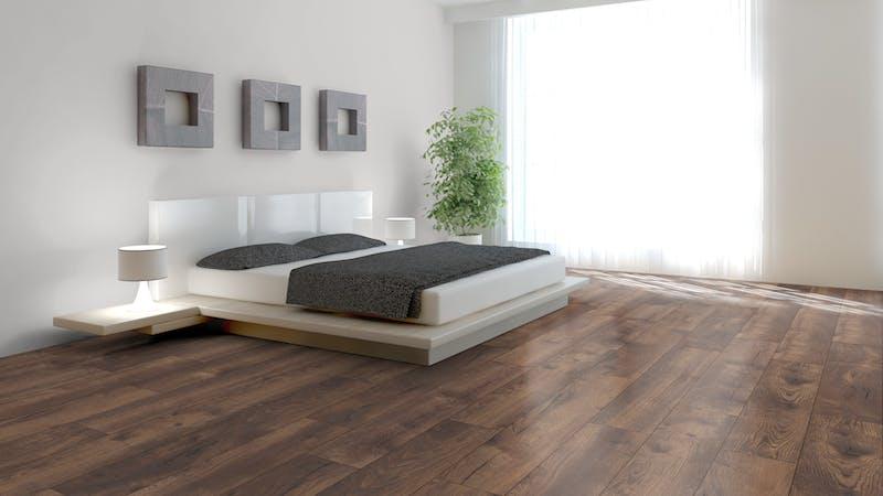 Laminat BoDomo Premium Spring Oak Dark Produktbild Schlafzimmer - Urban zoom