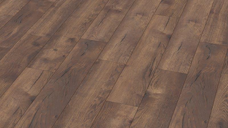 Laminat BoDomo Premium Spring Oak Dark Produktbild Musterfläche von oben grade zoom