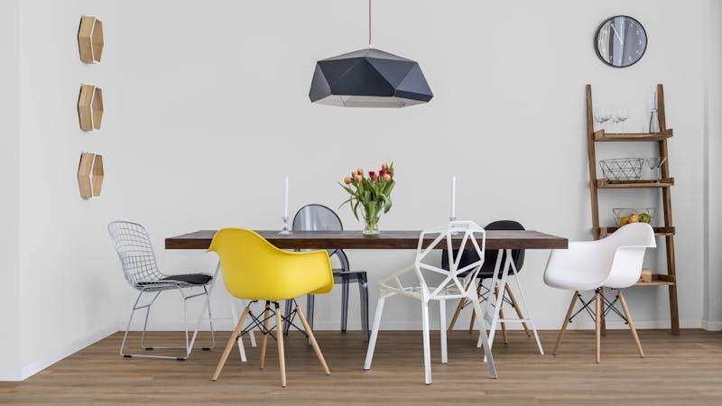 Rigid-Vinyl mit integrierter Dämmung BoDomo Exquisit Meru Oak Produktbild Küche & Esszimmer - Modern mit Treppe zoom