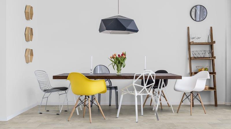 Rigid-Vinyl mit integrierter Dämmung BoDomo Exquisit Plaza Crema Produktbild Küche & Esszimmer - Modern mit Treppe zoom