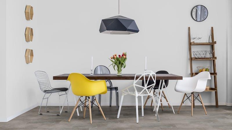 Rigid-Vinyl mit integrierter Dämmung BoDomo Exquisit Plaza Gris Produktbild Küche & Esszimmer - Modern mit Treppe zoom