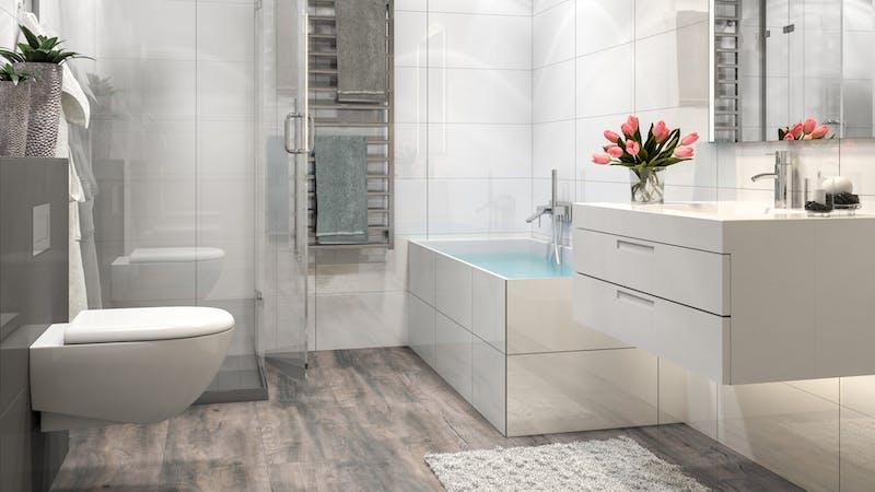 Laminat BoDomo Premium Fallito Oak Grey Produktbild Badezimmer - Klassisch zoom