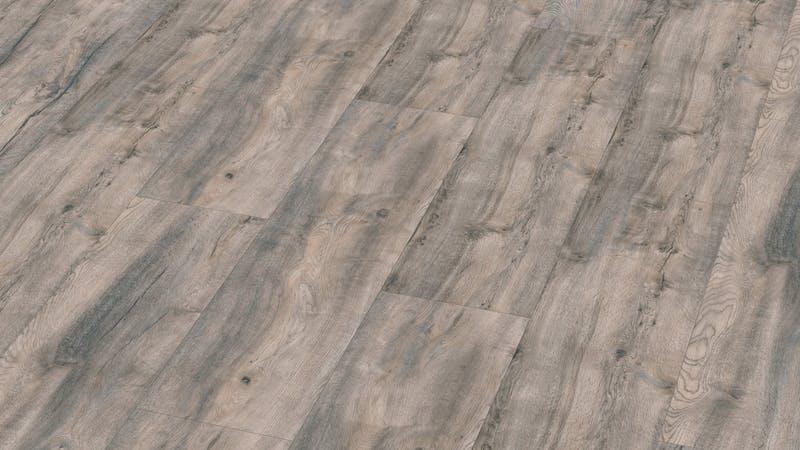 Laminat BoDomo Premium Fallito Oak Grey Produktbild Musterfläche von oben grade zoom
