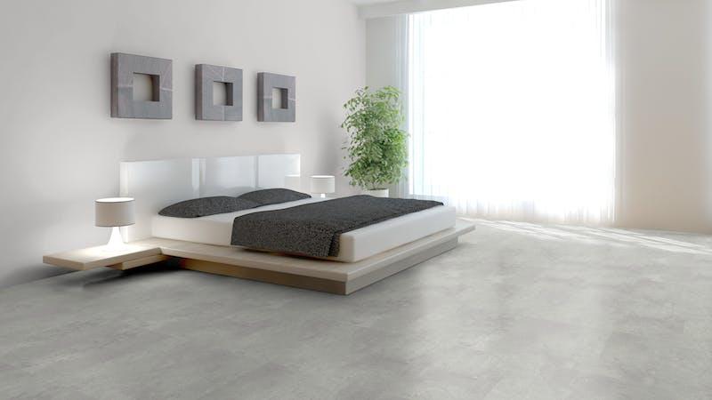 Rigid-Vinyl mit integrierter Dämmung BoDomo Klassik Kamea grey Produktbild Schlafzimmer - Urban zoom