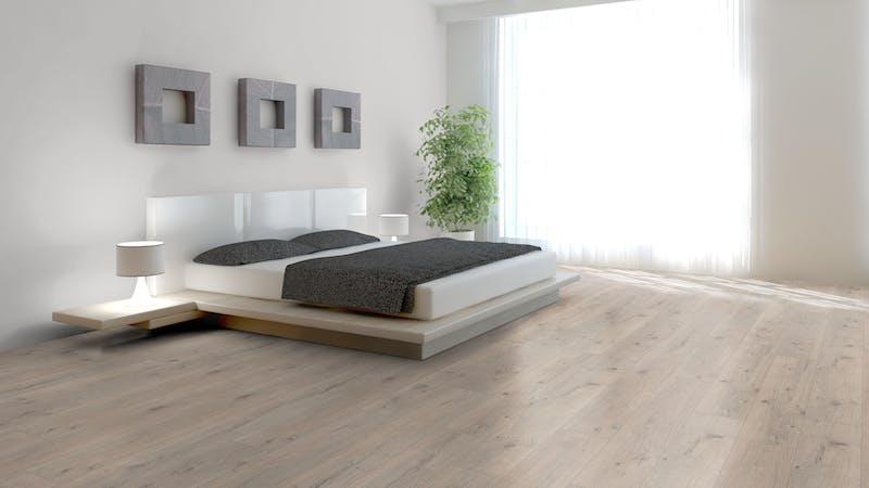 Laminat BoDomo Klassik Tajo Eiche Produktbild Schlafzimmer - Urban zoom