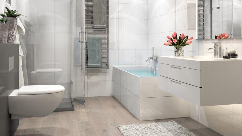 Laminat BoDomo Klassik Tajo Eiche Produktbild Badezimmer - Klassisch zoom